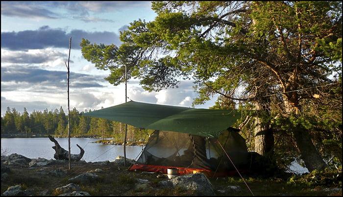 Test av de beste ultralette telt og tarp for 2017